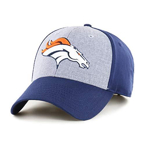 (OTS NFL Denver Broncos Male Essential All-Star Adjustable Hat, Light Navy, One)