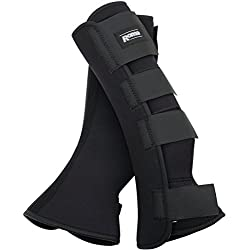 Roma Neoprene Leg Turnout Wraps Cob/Full Size Black