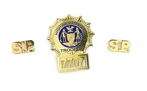 costumebase Super Troopers Badge Collar PIN Set of 3 Props -