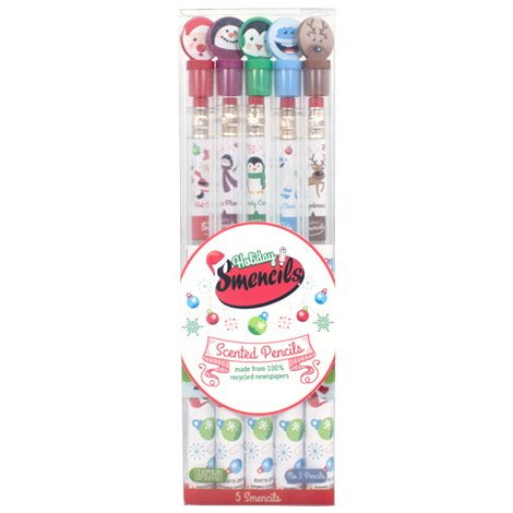 Holiday Smencils 5-Pack of Scented Pencils