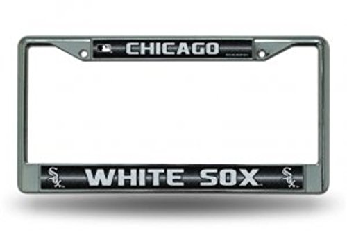 Rico MLB Chicago White Sox Bling License Plate Frame, Chrome, 12 x 6-Inch