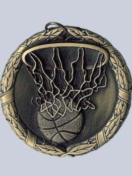 Medallas de premio: rápido barco baloncesto medalla (cuello cinta ...