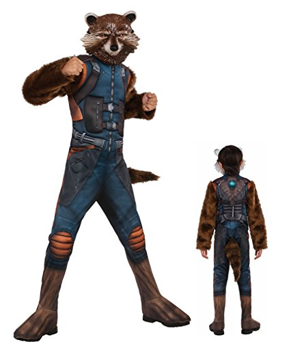 Child Size Deluxe Muscle Chest Rocket Raccoon Costume - Small - 4-6