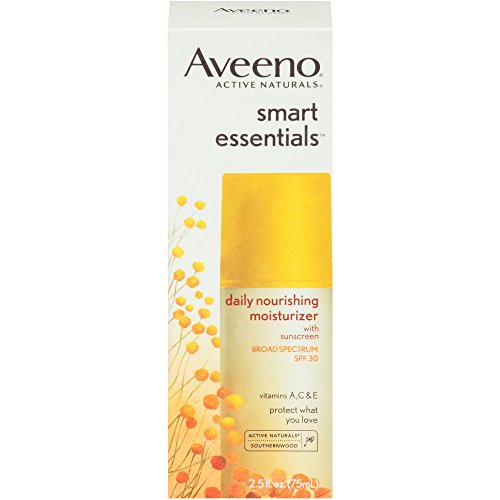 Aveeno Smart Essentials Daily Nourishing Moisturizer Oil Free With Broad Spectrum Spf 30, 2.5 Oz ()