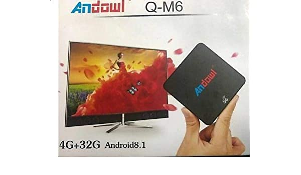 Collar Smart TV Box andowl q-m6 Android 8.1 4 K GB RAM 32 GB ROM ...