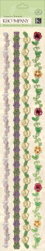 K&Company Watercolor Bouquet Specialty Adhesive Borders
