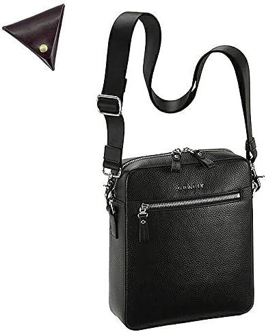 メンズ ショルダーバッグ 本革 レザー ビジネスバッグ と [BLANZAY 本革高級コインケース]のセット BH16436