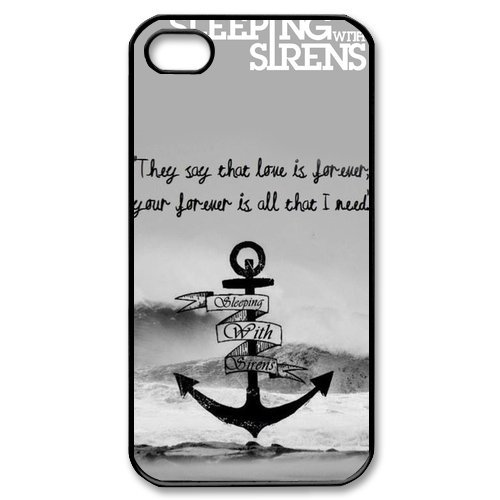 Sleeping with Sirens Cross Great Waves iPhone 4 4S On Your Style Christmas Gift Cover (Siren Costume Diy)