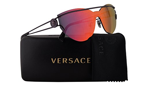 (Versace VE2186 Sunglasses Violet w/Brown Mirror Orange Lens 38mm 14156Q VE 2186)