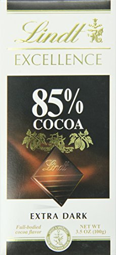 Lindt Excellence Extra Dark Chocolate 85% Cocoa, 3.5-Ounce Package