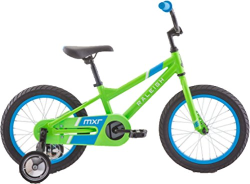 RALEIGH Bikes MXR 16 Kids Bike with Training Wheels for Boys Youth 3-5 Years Old, Green