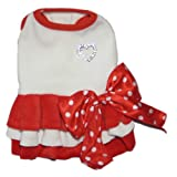 Puppy Angel Designer Dog Apparel - Tallulah Two-Tone Dress - Color: Red, Size: S