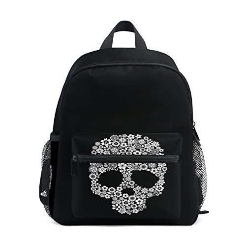 Kids Bag Pre Kindergarten School Skull Backpack Floral Girls Cute ZZKKO for Toddler Boy Sugar 1gYCIq8