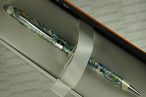 Cross Masquerade Century II Limited Edition with Jewelry-like Cross Signature Center Band , Graceful Curved Clip Finish and Swirling Peacock Feather Pattern Barrel Ballpoint Pen .