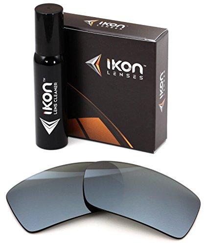 Polarized Ikon Iridium Replacement Lenses For Electric EC/DC XL Sunglasses - Silver Chrome - Electric Sunglasses Dc Ec