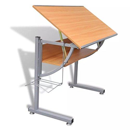 Nishore Mesa Multiusos para Ordenador Dibujo para Adolescentes, Inclinable Altura Ajustable, Madera de Tablero