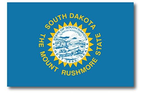 South Dakota Car Magnet US State Flag Refrigerator Locker SUV Heavy Duty Waterproof…