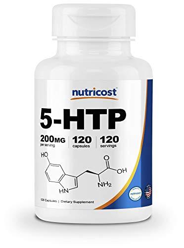 (Nutricost 5-HTP 200mg, 120 Veggie Capsules (5-Hydroxytryptophan) - Gluten Free &)