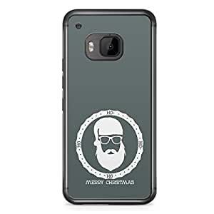 Green Santa HTC One M9 Transparent Edge Case - Christmas Collection