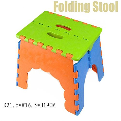 Awe Inspiring 1Pcs Portable Folding Plastic Stool Childrens Chair Caraccident5 Cool Chair Designs And Ideas Caraccident5Info