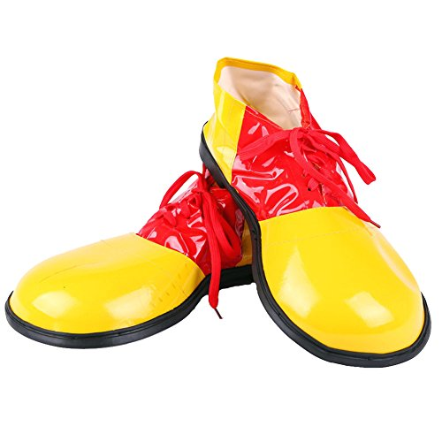Honeystore Unisex Adult Jumbo Large Clown Shoes Halloween Costumes Accessories Yellow (Homemade Halloween Costumes For Men)