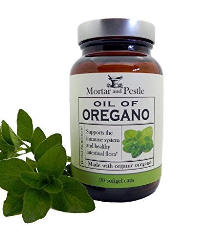 Mortar and Pestle Herbs Oil of Oregano - Made from Organi...