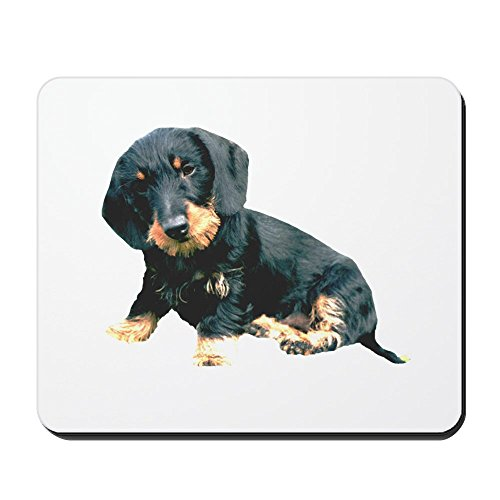 CafePress - Black and Tan Wire Hair - Non-Slip Rubber Mousepad, Gaming Mouse Pad