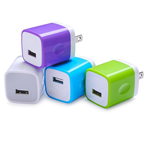 wall-adapter-sicodo-4-pack-universal-1a-usb-home-travel-wall-plug-charger-cubes-for-iphone-7-7-plus-