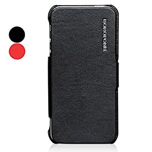 Procesamiento de dos días -Corea del caso de cuero suave del color sólido de todo el cuerpo para el iphone 5/5s (colores surtidos),Red