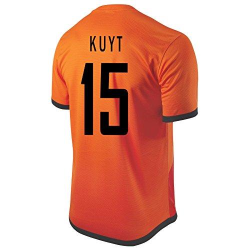 Holland Home Shirt - Nike Kuyt #15 Holland Home Soccer Jersey (XL)