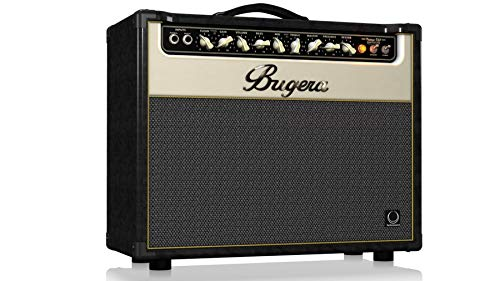 22w Guitar Tube Amplifier - BUGERA V22-INFINIUM 22-Watt Vintage 2-Channel Combo with Infinium Tube Life Multiplier Brown & Cream, (V22INFINIUM)