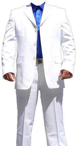 Hombre Traje Blanco de acero de Moden Señor Traje Chaqueta ...