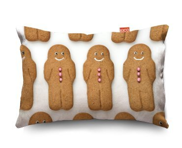 Gingerbread Men Funky Sofa Cushion – (28x17cm) Small by KICO