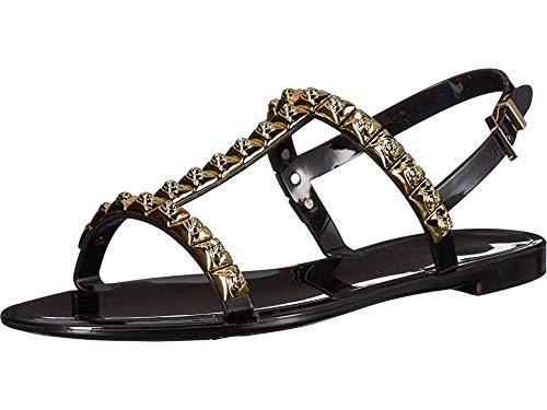(Stuart Weitzman Women's JELROSE Flat Sandal, Black Jelly, 11 Medium US )