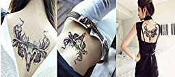 Dalin 4 Sheets Temporary Tattoo, Skull, Bull