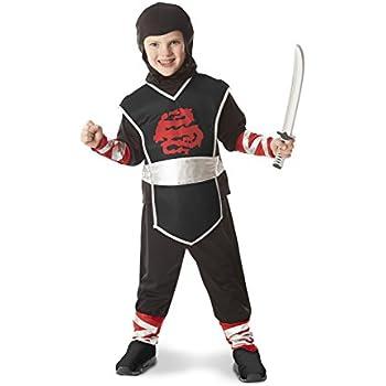 Melissa & Doug Ninja Role Play Costume Set (4 pcs) - Tunic, Pants, Hood, Soft Sword