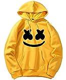 Uma Retails Unisex Marshmello Face Printed Cotton Hoodies, Sweatshirt with Kangaroo Pocket