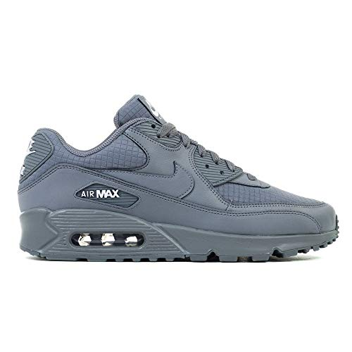 e5a4c685438f Nike Mens Air Max 90 Essential Running Shoes Cool Grey White AJ1285-017 Size  10.5