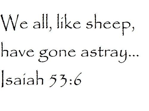 Tapestry Of Truth - Isaiah 53:6 - TOT466 - Wall and home scripture, lettering, quotes, images, stickers, decals, art, and more! - We all, like sheep, have gone astray... Isaiah 53:6