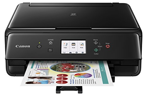 Canon Compact TS6020 Wireless Home Inkjet All-in-One Printer, Copier & Scanner, Mobile Printing, Auto Duplex and Business Card Printing, Black by Canon