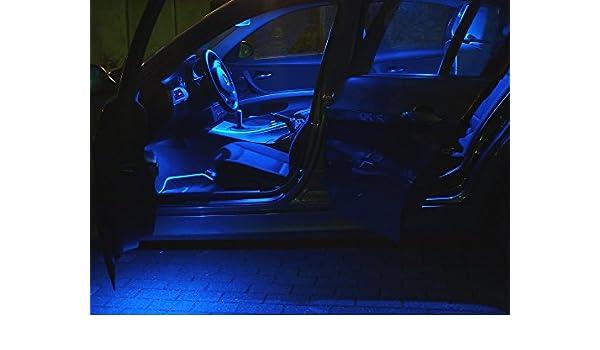 6 x LED azul iluminación interior Audi A3 8L hasta 2000 Juego de luz de lámpara: Amazon.es: Coche y moto