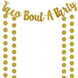 Gold Glittery Taco Bout A Party Banner and Gold Circle Dots Garland,Bachelorette Wedding Birthday Mexican Fiesta Theme Party Decoration Supplies