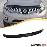 AUTEX Hood Shields Bug Deflector Fits for 2009 2010 2011 2012 2013 2014 Nissan Murano Hood Protector Deflector