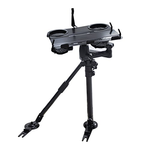 AA Products K002-AS Car Under Seat Installation Laptop Stand With Ball-Head (Non-Drilling Bracket and Aluminum Supporting Arm ()