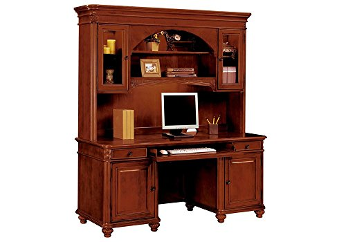 Antigua Computer Credenza with Hutch West Indies Cherry Finish Dimensions: 67''W x 24''D x 30''H Weight: 495 lbs by DMI Furniture