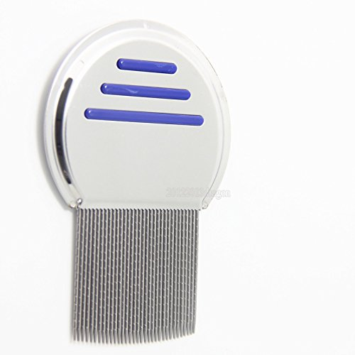 Stainless Steel  Head Lice Comb For Pets And Humans For Lice,Flea, and Tick Removal!!(Blue) ()