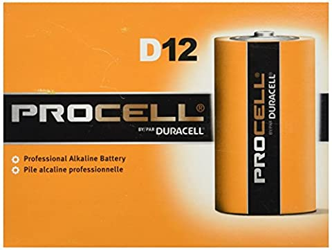 DURACELL D12 PROCELL Professional Alkaline Battery, 12 Count - Super Pro Pack