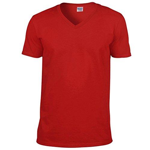 Gildan softstyletm camiseta de cuello de pico Rosso
