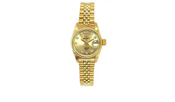 Reloj Orient automático de Mujer, Dorado con circonitas en