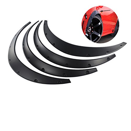 OSIAS 4Pcs Car Fender Flares Arch Wheel Eyebrow Protector mudguards Sticker Universal BLACK